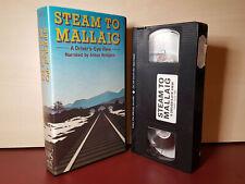 Steam To Mallaig A Driver's Eye View - Anton Rodgers PAL VHS Video Tape - (H150)