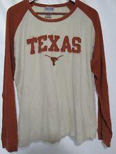 Majestic Texas Longhorns Orange Beige L/S Thermal Shirt