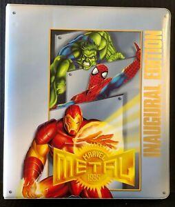 1995 MARVEL METAL BINDER, BASE SET, GOLD BLASTER SET, METAL BLASTER SET & PROMO