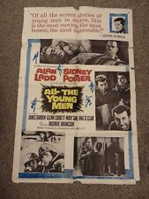 "Alan Ladd Sidney Poiter All The Young Men Original 27x41"" Movie Poster B1 #M8390"