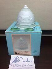 New Lladro #5525 1988 Porcelain Christmas Bell w/ Box Campanita Navidad Nos Mint