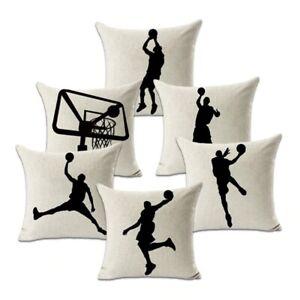 Michael Jordan Dunk Basketball Actions Pillow Case Cover Jumpman Home Décor