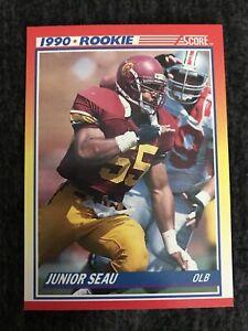 1990 Score Set Break #302 Junior Seau Near Mint-mint. San Diego Chargers