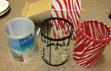 Lot Of 3 Pink Zebra Accent Shade Lone Star - Beach Seen - Pink Stripes