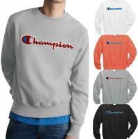 Champion Life Men's Reverse Weave Crew Sweatshirt Pullover Chenille Logo