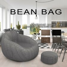 Seat bean bag puff coach  linen cloth lounger seat large lazy without filler