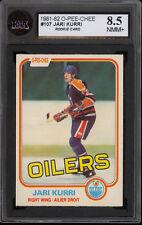 1981 82 OPC O PEE CHEE #107 Jari Kurri Rookie KSA 8.5 NM-MINT + Edmonton Oilers
