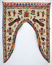 Vintage Door Valance Window Decor Wall Hanging Hand Embroidered 44 x 58 inch X03