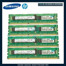 32GB 4X8GB Samsung HP 647651-081 PC3-12800R 1Rx4 DDR3 Unbuffered ECC Server RAM