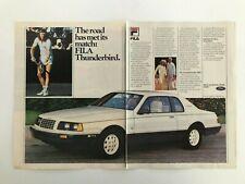 Ford Thunderbird Fila Bjorn Borg 1985 Vintage Print Ad