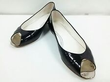 Auth CHANEL Black Patent Leather Shoes Women's US#6.5