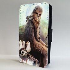 Teléfono Abatible Chewbacca Porgs Estuche Cubierta para IPHONE SAMSUNG