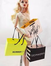 "More faux HAUTE COUTURE shopping bag for your FR, Barbie, other 12"" fashionistas"