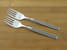 """2 Two Oneida Spanish Court Salad Forks 6 1/4"""" Rogers Stainless Flatware"""