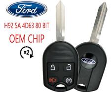 Ford Keyless Remote Key 4B w Remote Start 80 Bit OEM CHIP USA Seller A+++