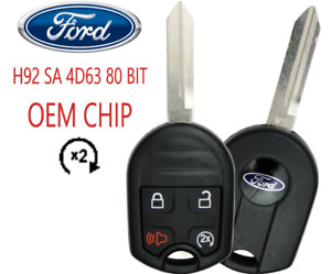 Ford Keyless Remote Key 4B w Remote Start 80 Bit OEM CHIP USA Seller A+++