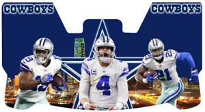 Custom Dallas Triplets 2 Football Helmet Visor, W/ Unbranded Clips