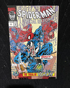 SPIDER-MAN SPECIAL EDITION #1 (12/92) NM TRIAL OF VENOM EMBOSSED COVER