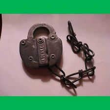 Key Adlake Antique Steel Railroad SWITCH Lock - SPT CO 79