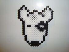 Dog Perler Bead White Bull Terrier Handmade Fridge Magnet