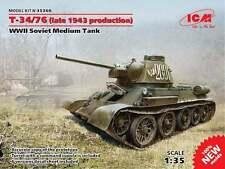 ICM 1/35 Russian T-34/76 (Late 1943 Production) WWII Soviet Medium Tank # 35366