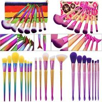 7tlg. Meerjungfrau Griff Professionelle Make-up Pinsel Set Brush Kosmetik BIN