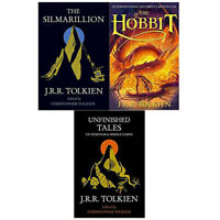 J. R. R. Tolkien Collection 3 Books Set Unfinished Tales of Numenor, Hobbit New