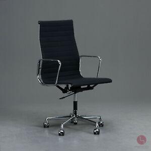 Vitra Eames Aluminium chair EA 119 Bürostuhl Alu Drehstuhl Stuhl drehbar schwarz