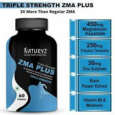 Naturyz Triple Strength ZMA Plus, Sports recovery & Sleep support supplement wit