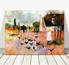 "CHARLES CONDER - Tea Time CANVAS PRINT 10x8"" - Vintage Australian Art"