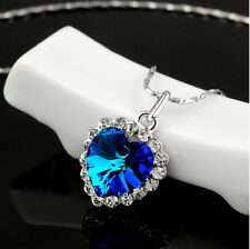 Collar con colgante Corazón azul del Océano de Titanic regalo para mujeres
