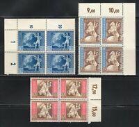 Germany 1942 MNH Mi 820-822 Sc B209-B211 European Postal Congress, Vienna **