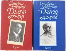 Diario. 2 volumi 1900-1941 – 1942-1968. Giuseppe Prezzolini Rusconi 1978