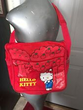 "Hello Kitty Red 15"" Laptop Computer Messenger Bag Removeable Shoulder Strap"