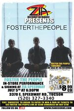 FOSTER THE PEOPLE 2011 Gig Concert POSTER Tucson Arizona