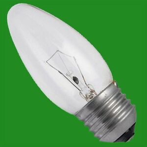 50x 60W Incandescent Clear Dimmable Candle Light Bulbs ES E27 Screw Filament