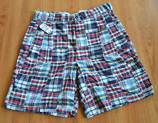 Jos.A.Bank  Mens Patch Work Shorts RED CHECK - Sizes 32,35,36 & 38 - NEW