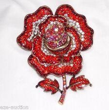 Ross Brooch / Pin 3D Red Ruby Crystal