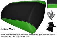 BLACK & GREEN CUSTOM FITS KAWASAKI Z 1000 SX 10-13 REAR LEATHER SEAT COVER
