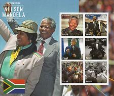 Palau 2013 MNH Nelson Mandela In Memoriam I 6v M/S Death ANC Leader Winnie