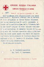 1934 DOCUMENTO CROCE ROSSA ITALIANA COMITATO DI SAVONA TEATRO CHIABRERA 6-208