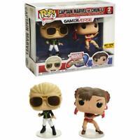 Funko Pop! Captain Marvel Vs. Chun-Li Hot Topic Exclusive Marvel Vs. Capcom