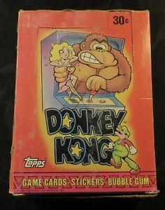 1982 Topps Donkey Kong Trading Card Empty Box Nintendo Mario Princess RARE