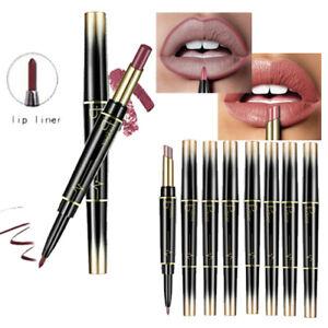 Double Head Long Lasting Waterproof Pencil Lipstick Pen Matte Lip Liner New