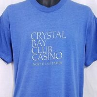 Crystal Bay Club Casino T Shirt Vintage 90s North Lake Tahoe Made In USA Large