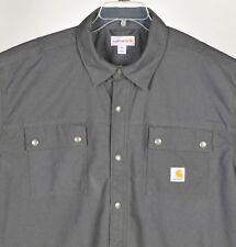 Carhartt Fleece Lined Canvas Chore Jacket Mens 2XL Regular Charcoal