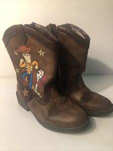 Disney Pixar Toy Story Toddler Boys Size 11 Woody Western Cowboy Boots