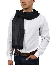Roberto Cavalli ESZ052 05001 Grey Wool Blend Grunge Mens Scarf