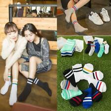 Women Girl Cotton Fashion Sport Striped High Socks Hosiery Casual Stockings Hot