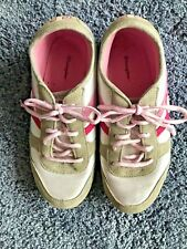 Champion Tennis Shoes size 3.5 Girls Pink White Gray Ties pink/White padded